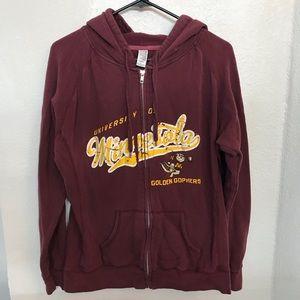 Tops - University of Minnesota Gophers Hoodie Sweatshirt